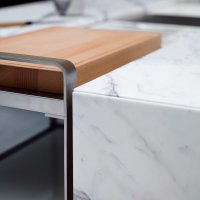 Living _ Dining - Dining Desk - Natural Stone - Tr