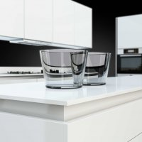 Poggenpohl _SEGMENTO polar white - closeup worktop